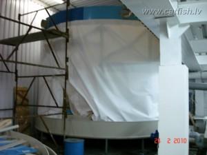Строительство биологического фильтра (биофильтра) для УЗВ, которая выращивает 10 тонн осетра в год